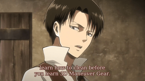 25 Best Memes About Attack On Titan Levi Cleaning Attack On