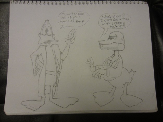 There was no tracing done here, I did my own work based on reference images from Disney and Warner Brothers.