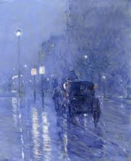 """ Rainy Night"" Childe Hassam"