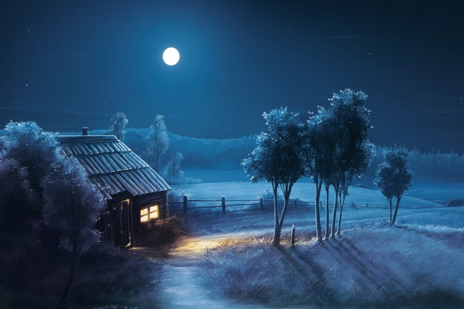 blue-night-full-moon-scenery-wide