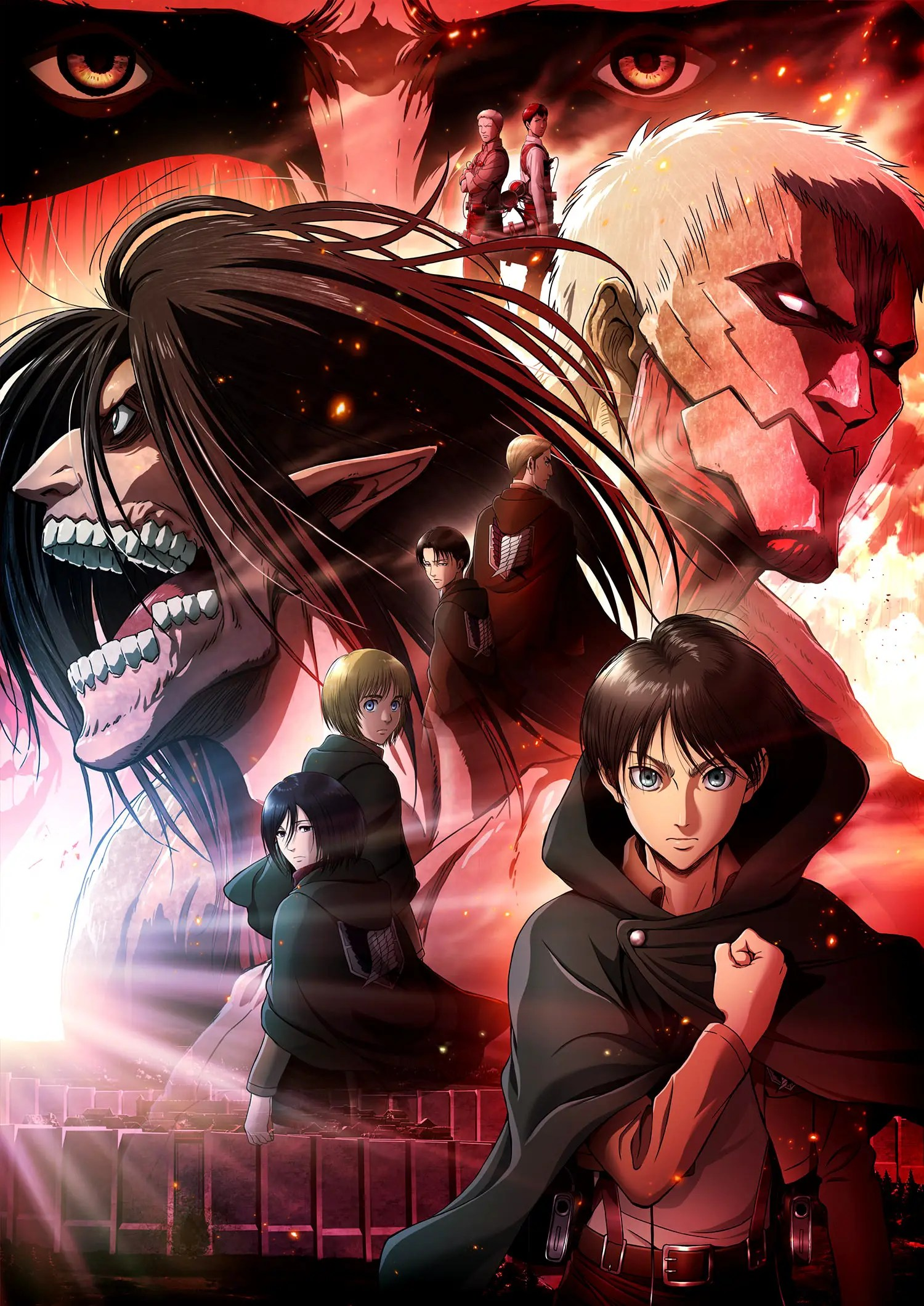 Visuel clé pour le film d'animation Shingeki no Kyojin Chronicle