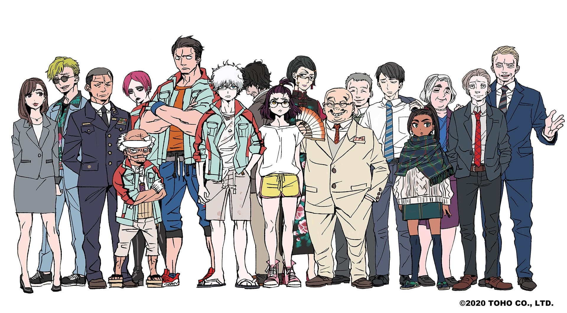 Design des personnages de l'anime Godzilla : Singular Point