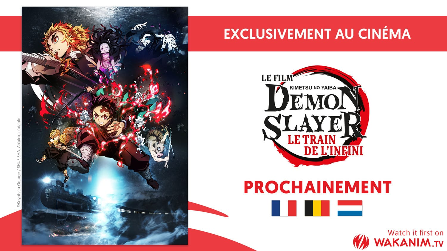 Annonce du film demon slayer le train de l'infini en France par Wakanim