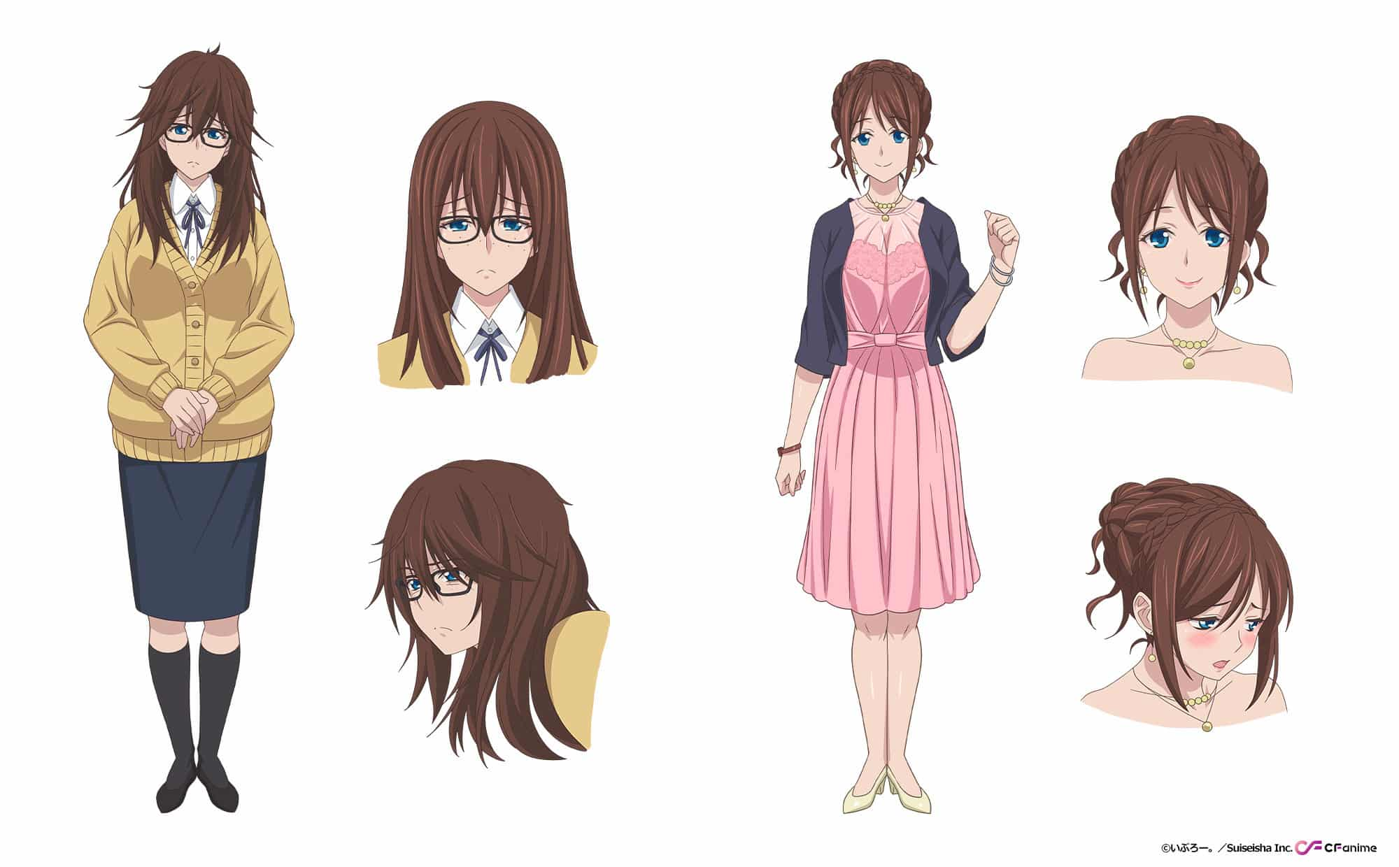 Design de Yukuhashi Rena dans anime Simple yet Sexy
