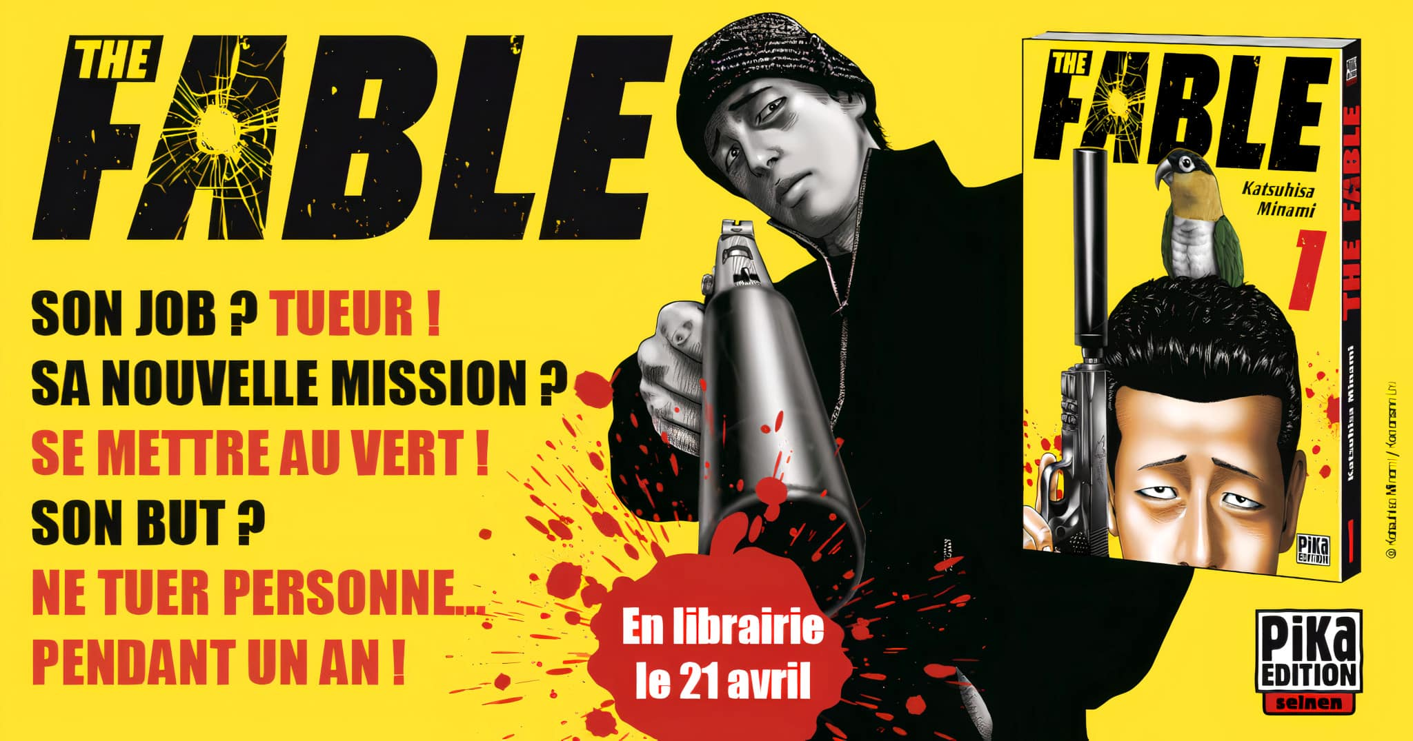 Annonce du manga The Fable en France aux éditions Pika