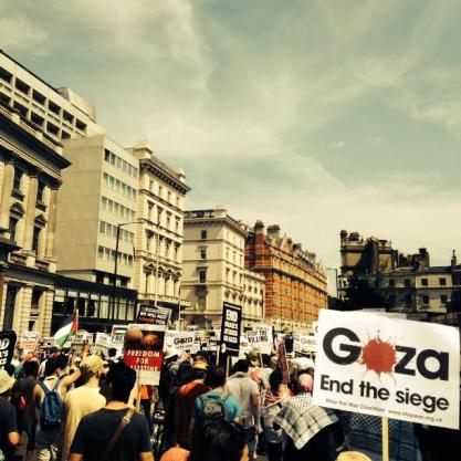 Gaza London Protest