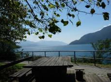 Pic nic table lake locarno