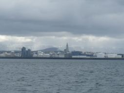 Reykjavik from the sea