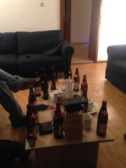 St Anton Chelet Drinks On Table