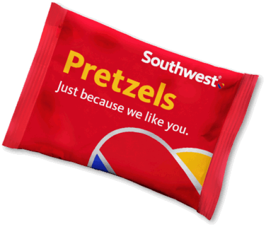 Photo of a packet of Southwest Airlines' Pretzels.