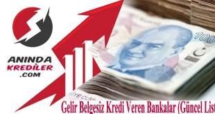 Gelir Belgesiz Kredi