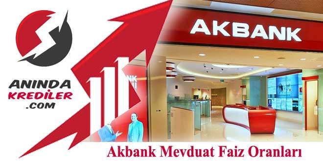 Akbank Mevduat Faiz Oranları 2018