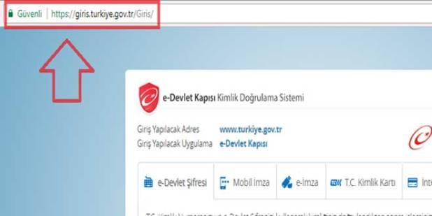 E devlet giriş ekranı
