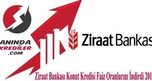 Ziraat Bankası Konut Kredisi Faiz İndirimi