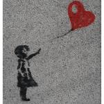 Letting go heart balloons