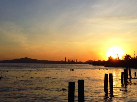 """""""Friendship is the shadow of the evening, which increases with the setting sun of life"""". Jean De La Fontaine. (Mahakam, Samarinda)"""