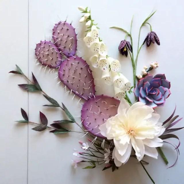 floral arrangement flatlay