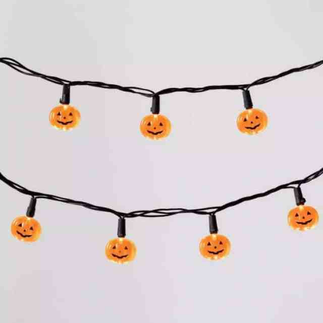20ct LED Pumpkin Halloween String Lights