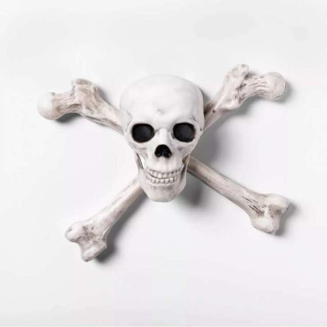 ight-Up Skeleton Crossbone Halloween Wall Decor