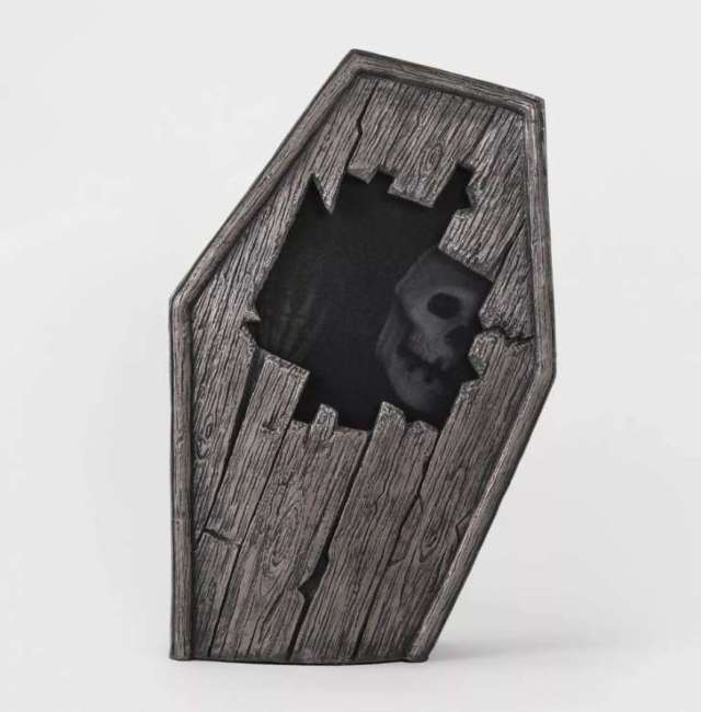 Animated Dug Up Coffin Decorative Halloween Prop