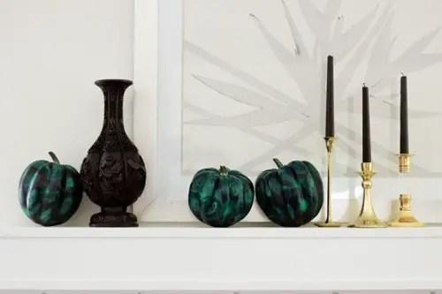 malachite pumpkin diy 2