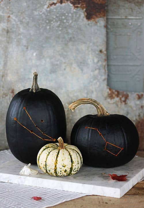 A Guide On Making An Amazing Constellation Pumpkin by The Merrythought