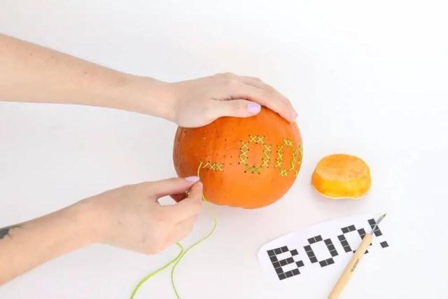 Halloween DIY: Cross Stitch Pumpkin