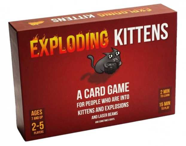 Christmas Gifts for Tweens 2019: Exploding Kittens Game 2020