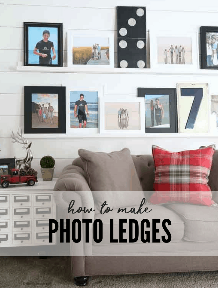 How to Make DIY Photo Ledges