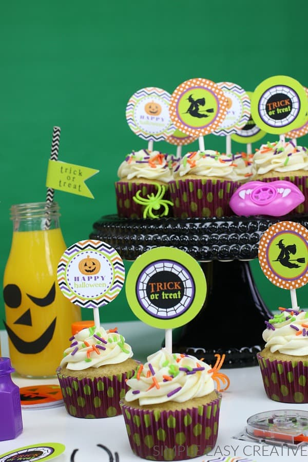 Printable Halloween Cupcake Toppers