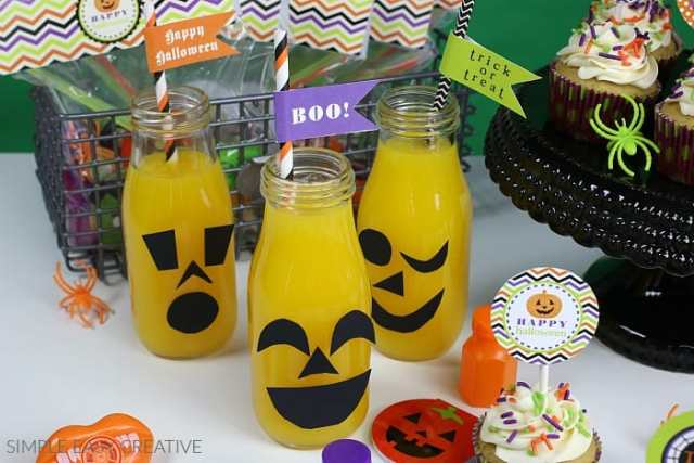 Halloween Printables Drink Flags