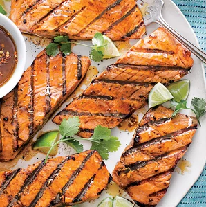 Photo of Grilled Rainbow Trout With Apricot Salsa