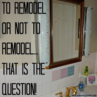To Remodel Or Not To Remodel?