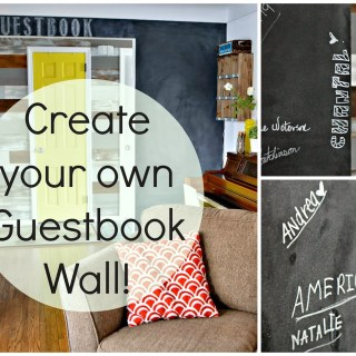 Create Your Own Guestbook Wall!