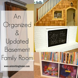An Organized & Updated Basement Family Room