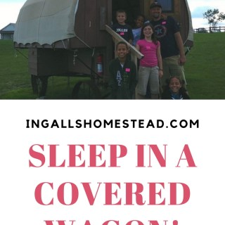 Sleep In A Covered Wagon!