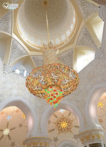 阿布達比大清真寺 Sheikh Zayed Grand Mosque Center@2014杜拜小旅行