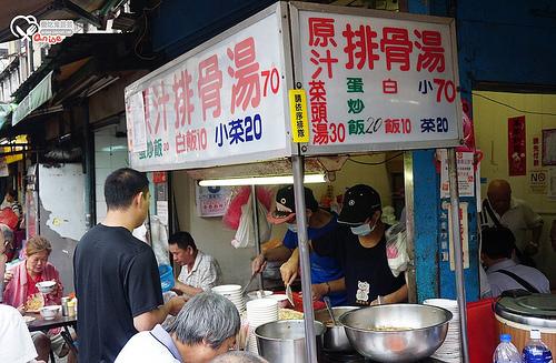 捷運龍山寺站美食.梧州街原汁排骨湯