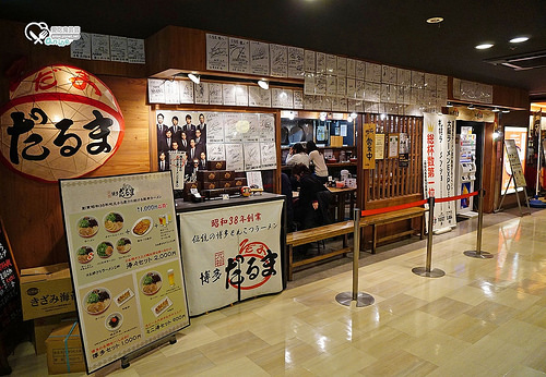 博多車站好吃好逛.元祖博多達摩拉麵(博多だるま)、商店街、博多阪急、CHOCOCRO CAFE