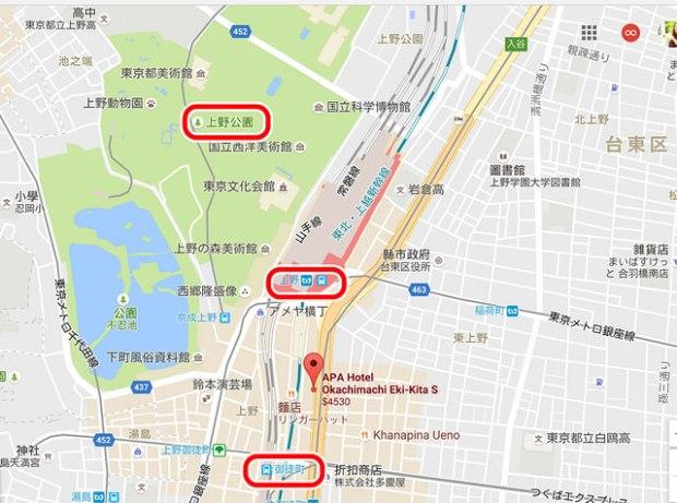 東京住宿.上野站APA HOTEL,交通絕佳的好飯店