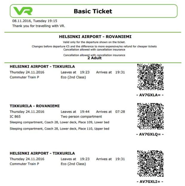 北極圈交通:赫爾辛基→羅瓦涅米Rovaniemi VR芬蘭國鐵臥鋪→巴士到Saariselkä薩利色爾卡