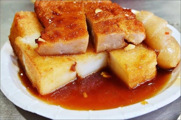 板橋黃石市場生炒魷魚蘿蔔糕糯米腸DSC_1565