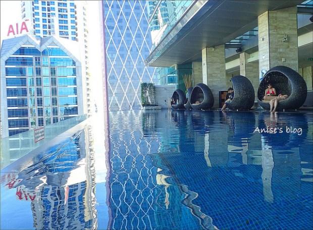 曼谷超威飯店推薦:Eastin Grand Hotel Sathorn無邊際泳池 @愛吃鬼芸芸