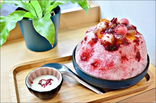 東門站美食.金雞母Jingimoo冰品甜湯,春暖大花玫瑰冰,夢幻IG風日式剉冰(姊姊食記)