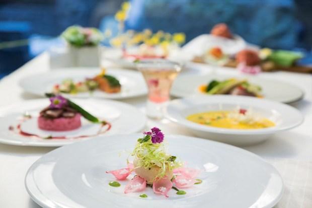 大地酒店喜歡廳花漾食尚饗宴,「花漾套餐」美得像幅畫!