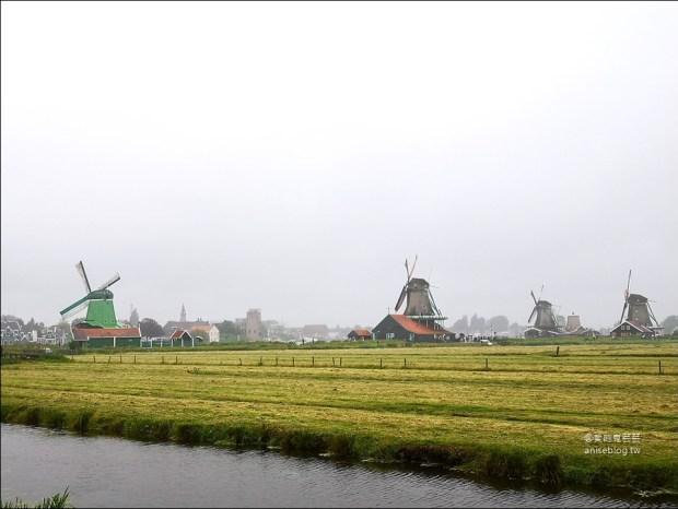 荷蘭風車村Zaanse(贊丹),狂風暴雨不怕不怕,起司照吃、熱巧克力照喝