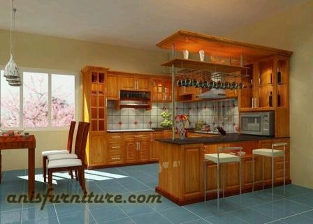 kitchen set minimalis kayu jati