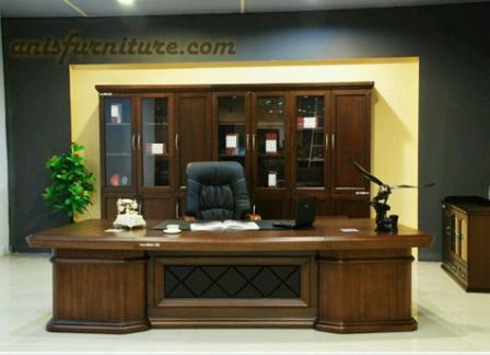 meja kantor set jati