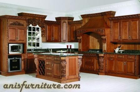 kitchen set ukiran jati