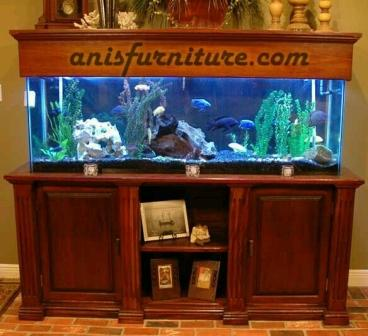 meja jati untuk aquarium